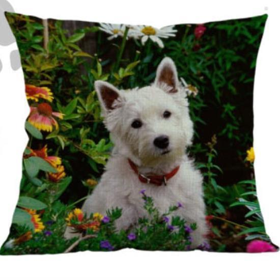West Highland White Terrier Westie Pillow - Way Up Gifts