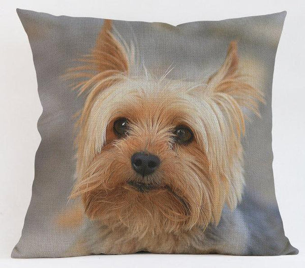 Decorative Yorkshire Terrier Yorkie Couch Throw Pillow