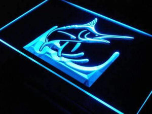 Deep Sea Blue Marlin Neon Sign (LED)-Way Up Gifts