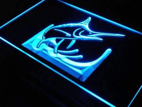 Deep Sea Blue Marlin LED Neon Light Sign - Way Up Gifts