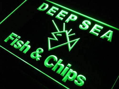 Deep Sea Fish and Chips LED Neon Light Sign - Way Up Gifts