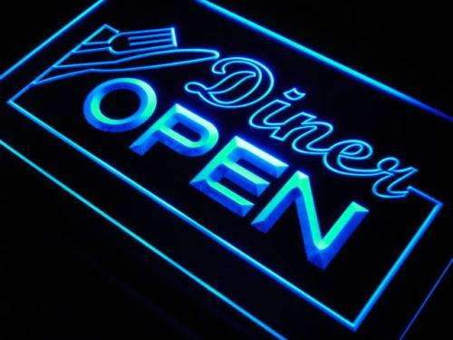 Diner Open LED Neon Light Sign - Way Up Gifts