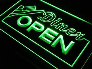 Diner Open Neon Sign (LED)-Way Up Gifts