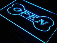 Dog Bone Pet Shop Open LED Neon Light Sign
