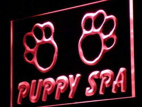 Dog Grooming Puppy Spa Neon Sign (LED)-Way Up Gifts