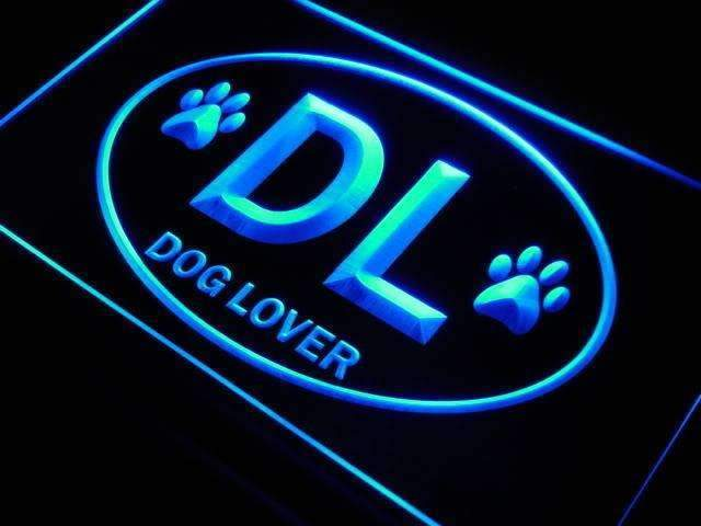 Dog Lover DL LED Neon Light Sign - Way Up Gifts