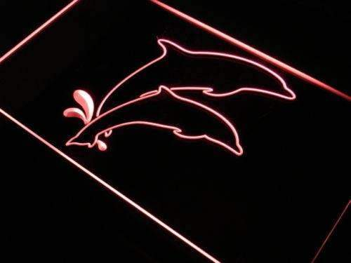 Dolphins Decor Neon Sign (LED)-Way Up Gifts