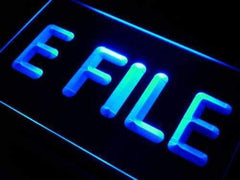E File Tax Services LED Neon Light Sign