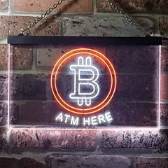 Bitcoin ATM Here LED Neon Light Sign