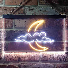 Cloud Moon LED Neon Light Sign