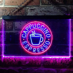 Coffee Cappuccino Espresso LED Neon Light Sign