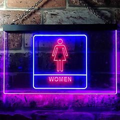 Women Bathroom Restroom LED Neon Light Sign