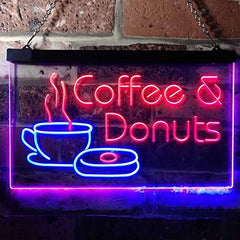 Coffee Donuts LED Neon Light Sign