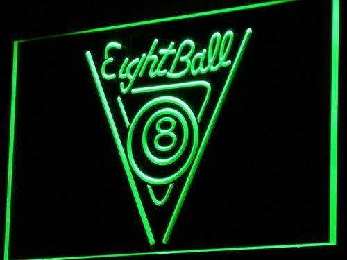 Eight Ball Billiards LED Neon Light Sign - Way Up Gifts