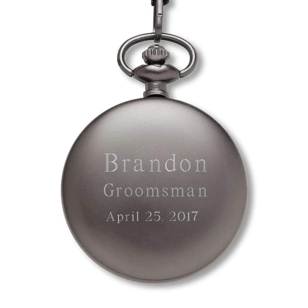 Engraved Modern Pocket Watch Keepsake  Personalized Gifts - Way Up Gifts