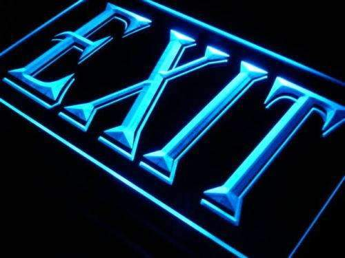 Exit Neon Sign (LED)-Way Up Gifts
