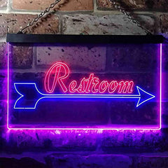 Right Arrow Restroom LED Neon Light Sign