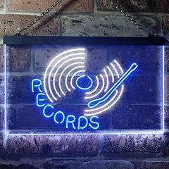 Turntable Music Records LED Neon Light Sign