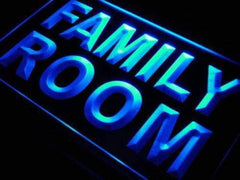 Family Room LED Neon Light Sign