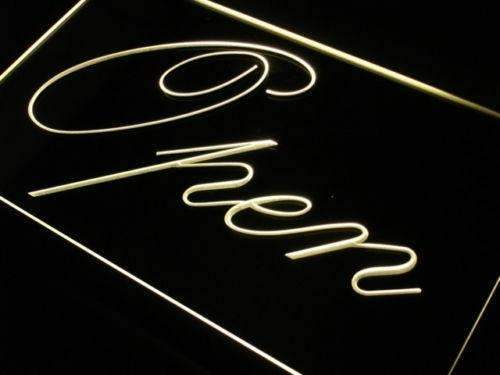 Fancy Open Neon Sign (LED)-Way Up Gifts