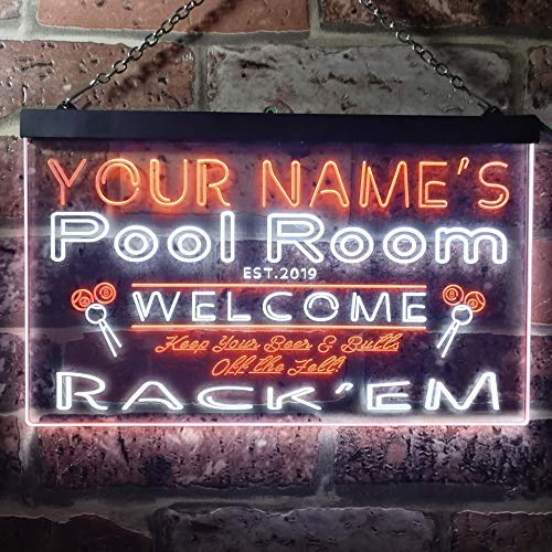 Personalized Billiards Pool Room LED Neon Light Sign - Way Up Gifts