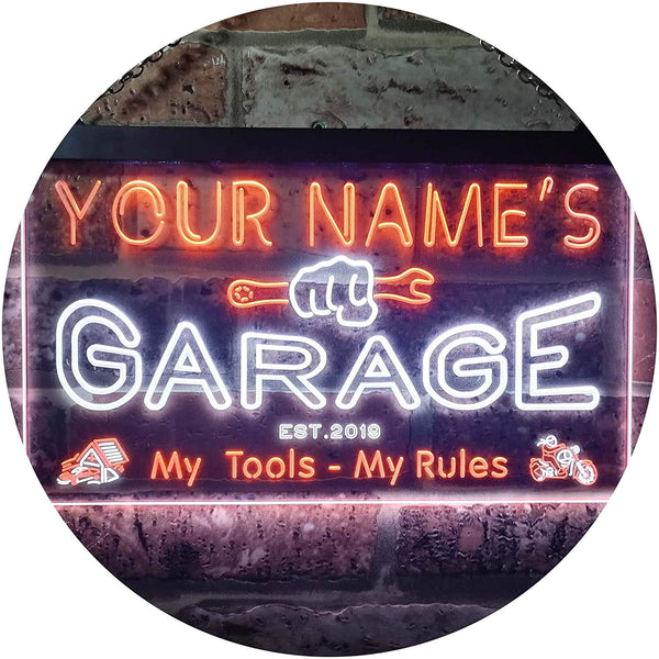 Personalized Home Garage Tools Handyman LED Neon Light Sign - Way Up Gifts