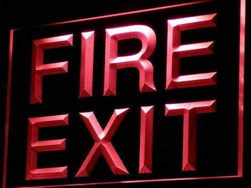 Fire Exit LED Neon Light Sign - Way Up Gifts