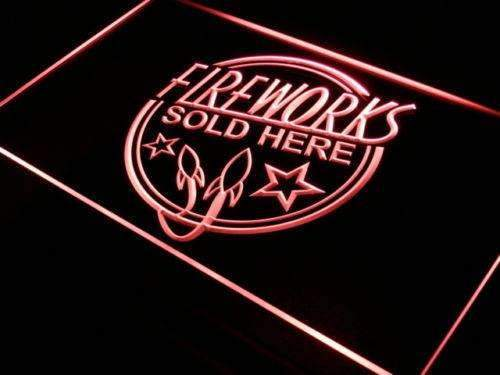 Fireworks Sold Here Neon Sign (LED)-Way Up Gifts