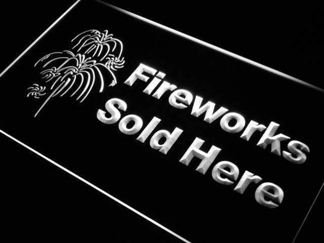 Fireworks Sold Here Store LED Neon Light Sign - Way Up Gifts