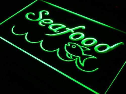 Fish Seafood LED Neon Light Sign - Way Up Gifts