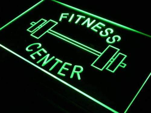 Fitness Center Barbell Neon Sign (LED)-Way Up Gifts