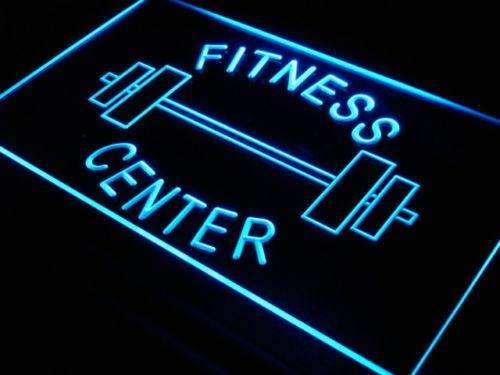 Fitness Center Barbell LED Neon Light Sign - Way Up Gifts