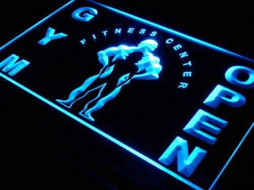 Fitness Center Gym Open LED Neon Light Sign - Way Up Gifts