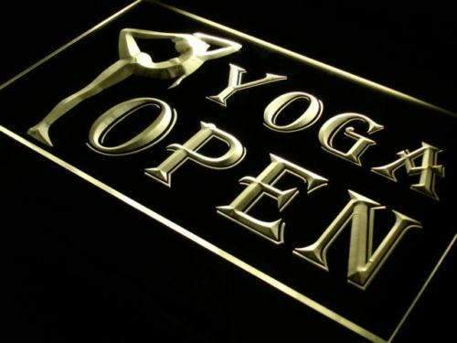 Fitness Center Yoga Open LED Neon Light Sign - Way Up Gifts