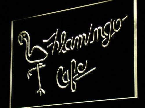 Flamingo Cafe LED Neon Light Sign  Business > LED Signs > Beer & Bar Neon Signs - Way Up Gifts
