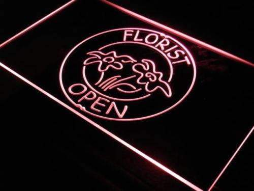 Florist Open Neon Sign (LED)-Way Up Gifts
