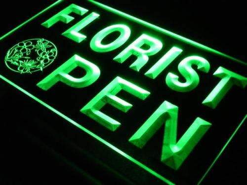 Flowers Florist Open LED Neon Light Sign - Way Up Gifts