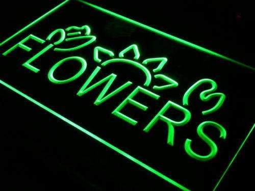 Flowers Neon Sign (LED)-Way Up Gifts