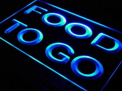 Food To Go Neon Sign (LED)-Way Up Gifts