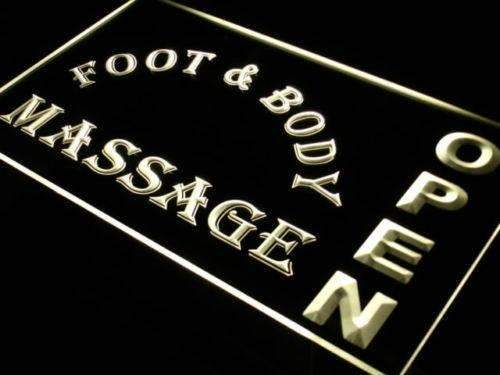 Foot and Body Massage Open LED Neon Light Sign - Way Up Gifts