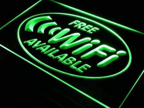 Free Wifi Available LED Neon Light Sign - Way Up Gifts