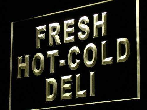 Fresh Hot Cold Deli LED Neon Light Sign - Way Up Gifts