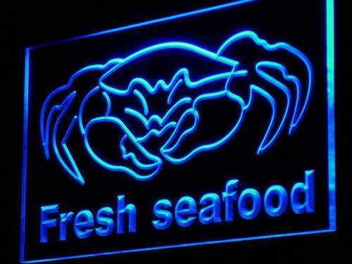 Fresh Seafood Crab LED Neon Light Sign - Way Up Gifts