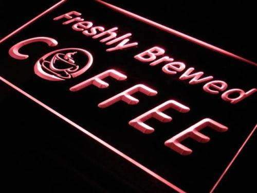 Freshly Brewed Coffee LED Neon Light Sign - Way Up Gifts