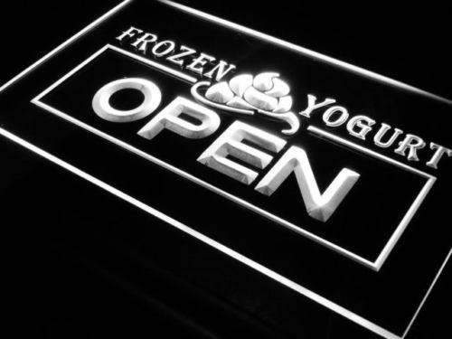Fro Yo Frozen Yogurt Open LED Neon Light Sign - Way Up Gifts
