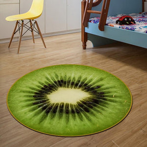 Fruit Series Kiwi Round Area Rug