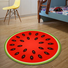 3D Watermelon Round Area Rug