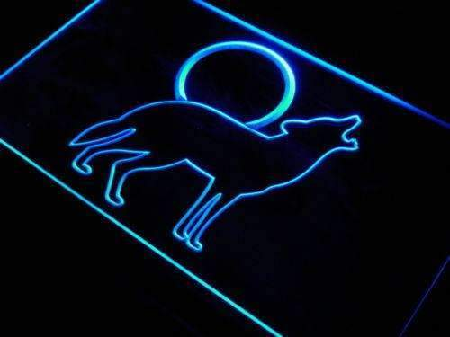 Full Moon Coyote Howling LED Neon Light Sign - Way Up Gifts