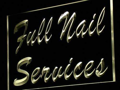 Full Nail Services LED Neon Light Sign - Way Up Gifts