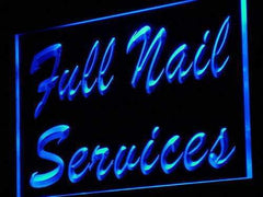 Full Nail Services LED Neon Light Sign